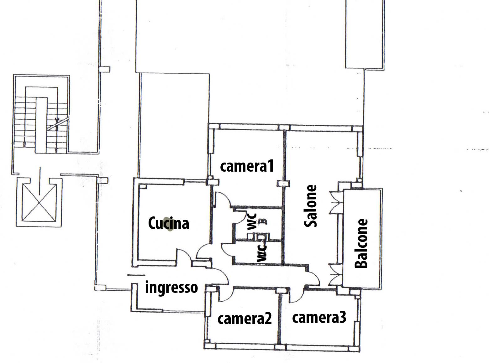 Planimetria appartamento Rufoli